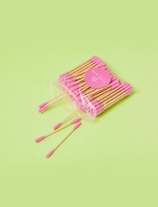 Pinkgoods) Pink Cotton swab
